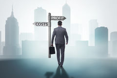 The businessman in difficult choice concept. Businessman in difficult choice concept Royalty Free Stock Photography