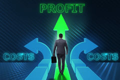 The businessman in difficult choice concept. Businessman in difficult choice concept Stock Image