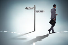 The businessman in difficult choice concept. Businessman in difficult choice concept Royalty Free Stock Photos