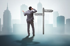 The businessman in difficult choice concept Stock Image