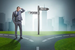 The businessman in difficult choice concept Royalty Free Stock Photos