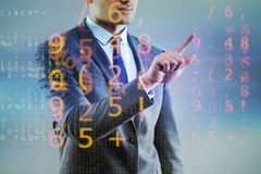 The businessman of digital age in concept Royalty Free Stock Photo