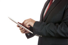 Businessman and digital tablet Royalty Free Stock Image