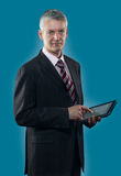 Businessman with digital tablet Royalty Free Stock Photo
