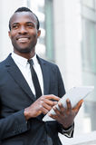 Businessman with digital tablet. Stock Photography