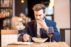 Free Businessman Dinning At The Restaurant Stock Image - 106050801