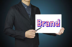 Businessman direct develop brand. Royalty Free Stock Photography