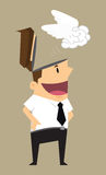 Businessman discharge brain Royalty Free Stock Photos