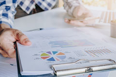 Businessman discussing the analysis charts Stock Photography