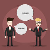 Businessman discussing,Vector EPS10. Royalty Free Stock Photos