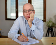 Businessman disillusioned stock photos