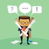 Businessman disorganized. Businessman disorganized, illustration by  design EPS10 Royalty Free Stock Photos