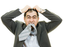 Businessman in distress Stock Images
