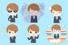 Businessman do different emotion Stock Image