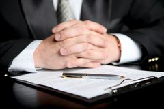 Businessman & document Royalty Free Stock Images