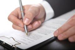 Businessman & document Stock Image