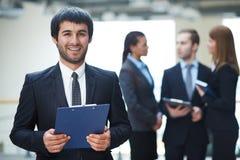 Businessman with document Stock Photos
