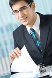 Businessman with documents Stock Image
