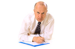 Businessman with documents Royalty Free Stock Images