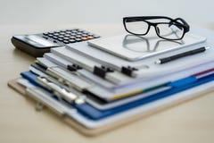 Businessman documents business report papers, job succes Analyze. Document plans stock images