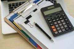 Businessman documents business report papers, job succes Analyze. Document plans stock image