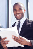 Businessman documents handling Royalty Free Stock Images
