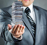 Businessman with documents Royalty Free Stock Photos