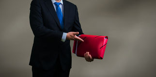 Businessman and documents. Businessman in office with documents Stock Photos