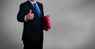 Businessman and documents Royalty Free Stock Photos