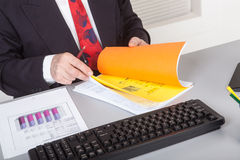 Businessman with documents Stock Photo