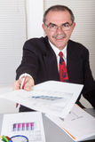 Businessman with documents Royalty Free Stock Photo