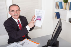 Businessman with documents Royalty Free Stock Photography