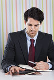 Businessman with documents Stock Photos
