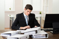 Businessman Doing Accounting Stock Photography