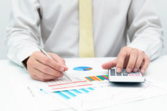 Business calculation Stock Images