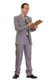 Businessman Doing Checklist Royalty Free Stock Images