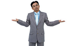 Businessman doing hand gesture Royalty Free Stock Photography