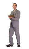 Businessman Doing Inventory Royalty Free Stock Photos