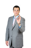Businessman doing the ok sign Stock Images