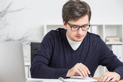 Businessman doing paperwork Royalty Free Stock Images