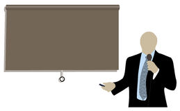Businessman doing a presentation Stock Image