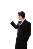Businessman doing presentation Royalty Free Stock Image