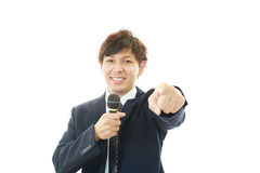 A businessman doing a presentation. Stock Image