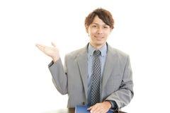 A businessman doing a presentation. Royalty Free Stock Photos