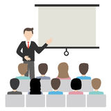 Businessman doing presentation vector. Vector file businessman doing presentation Royalty Free Illustration