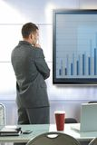 Businessman doing presentation Stock Photography