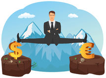 Businessman doing splits Stock Images