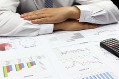 Businessman doing Summary report order plan finance . Royalty Free Stock Photo