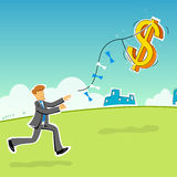Businessman with dollar Stock Images