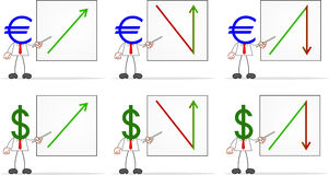 Businessman With Dollar Euro Stock Photography